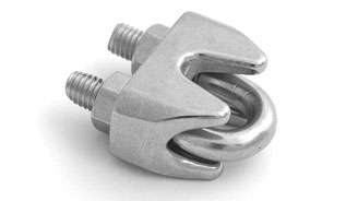 Lightweight Stainless Steel Wire Rope Clips (Bulldog Grips)