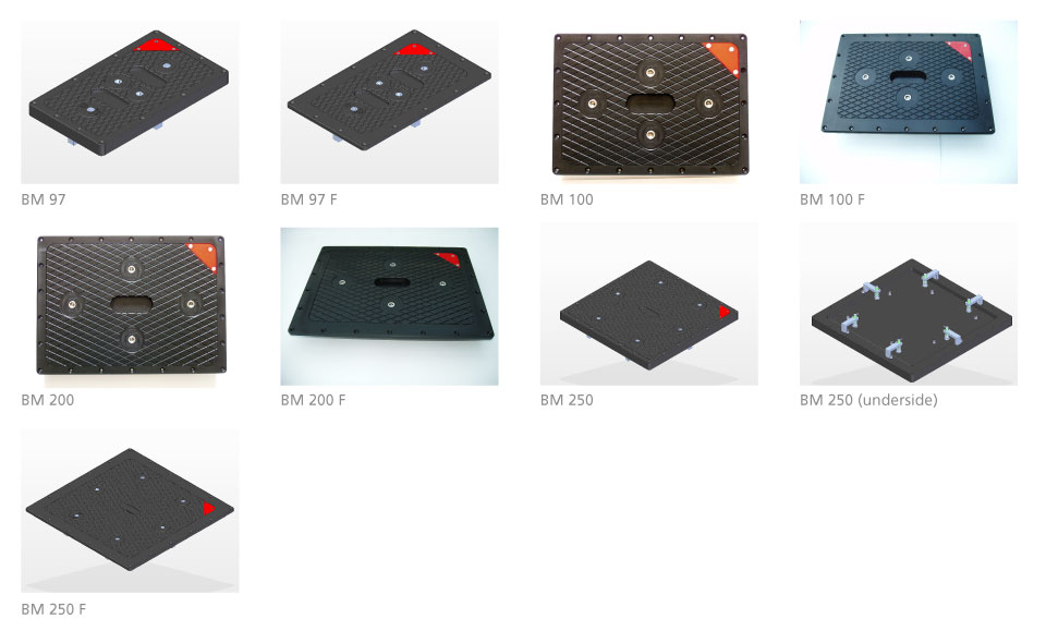Watertight Acetal Deck Plates (Square/Rectangular)