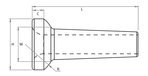316L Rod Stemball Technical Drawing
