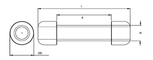 316L Spreader Bend Technical Drawing
