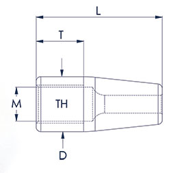 Rod Caps Technical Drawing