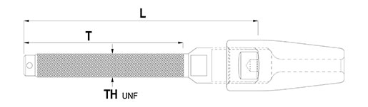 Rod Studs Technical Drawing