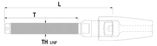 Rod Terminal with Toggle End Technical Drawing