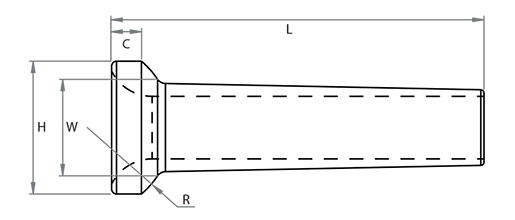 Super Duplex Rod Stemball Technical Drawing